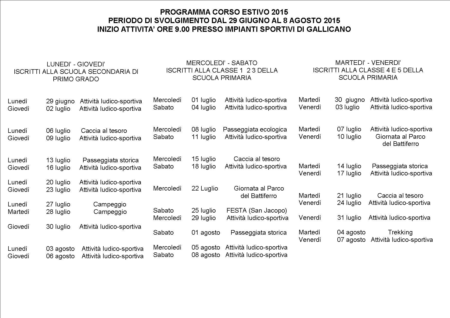 programma dettagliato 2015